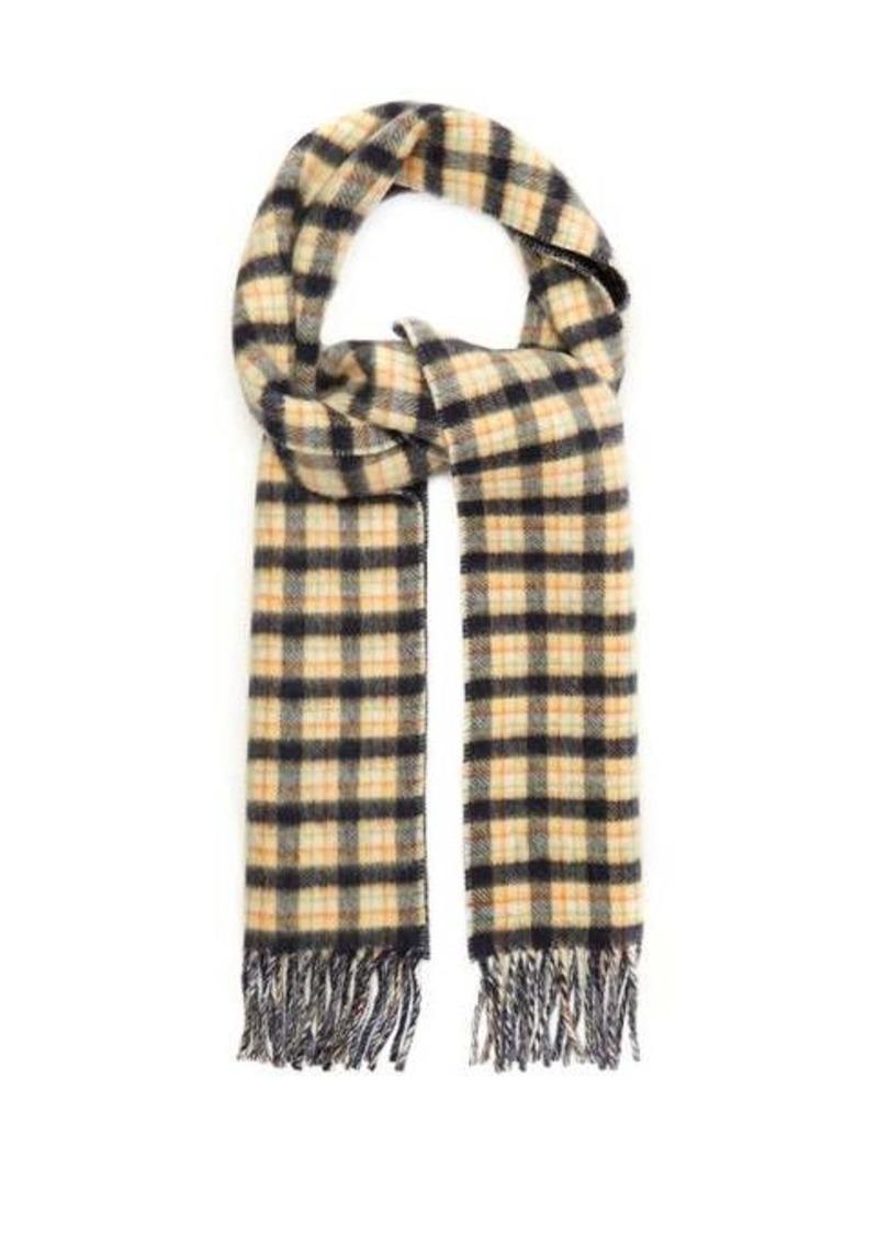 Gucci Checked GG-jacquard wool scarf