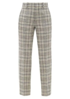 Gucci Checked wool-blend straight-leg trousers