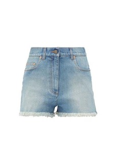 Gucci Cherry-embroidered denim shorts