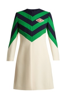 Gucci Chevron-stripe wool coat