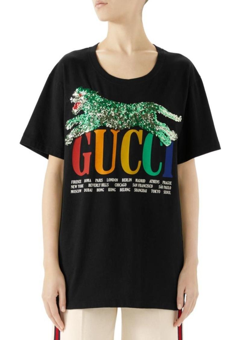 a16f3ed2bfe Gucci Gucci Cities Print Tiger T-Shirt