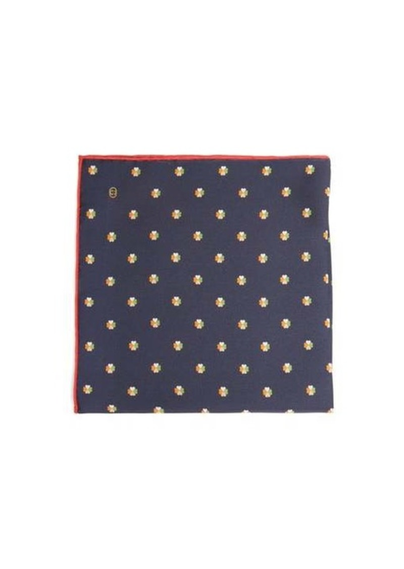 Gucci Clover-print silk pocket square