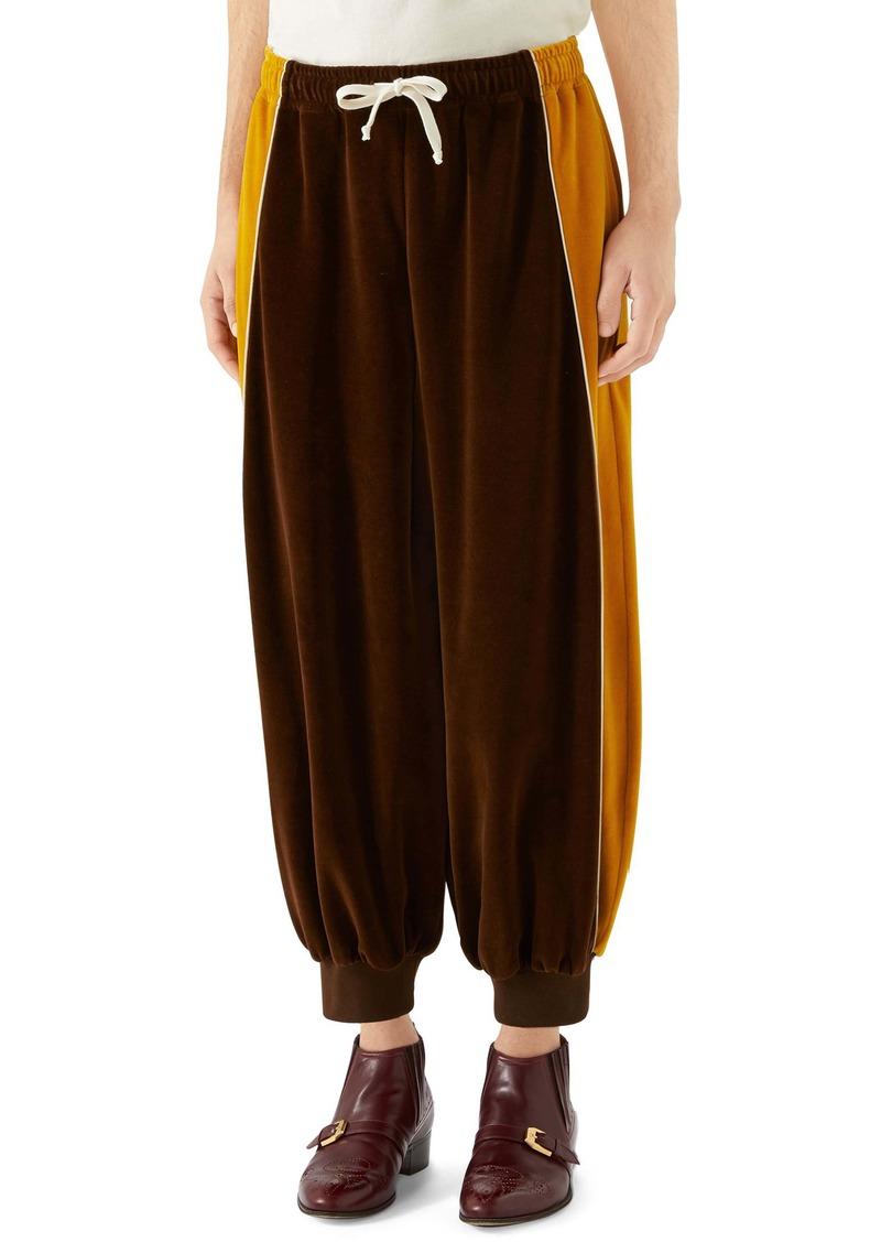 Gucci Colorblock Velour Track Pants