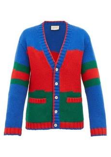 Gucci Colour-block wool cardigan
