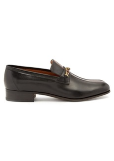 Gucci Contrast panel embellished leather penny loafers
