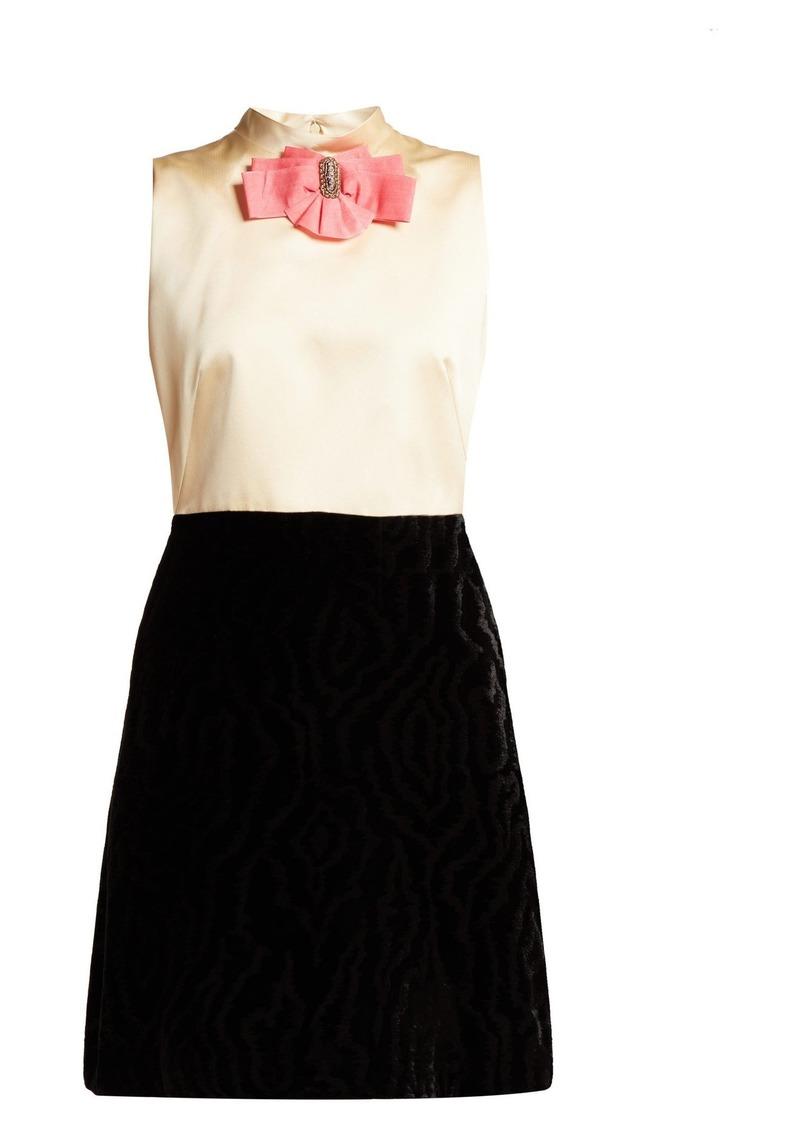 338701bf72 Gucci Gucci Contrast-panel satin & velvet mini dress | Dresses
