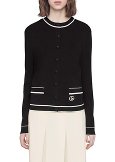 Gucci Contrast Tipped Cardigan