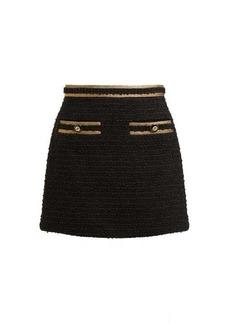 Gucci Cotton-blend bouclé tweed mini skirt