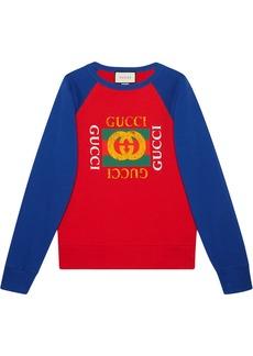 Cotton jersey sweatshirt with Gucci logo