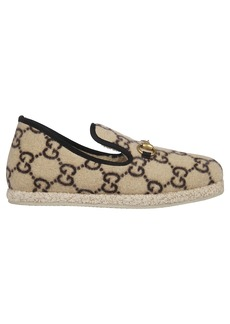 Gucci Covered Wool Gg Loafers