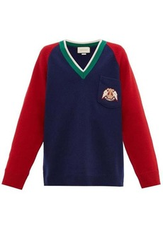 Gucci Crest-patch wool sweater
