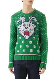 Gucci Crewneck Intarsia Wool & Alpaca Sweater