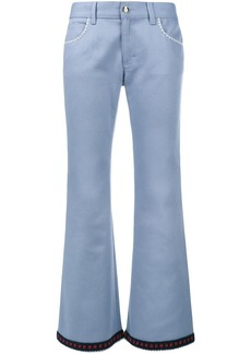 Gucci crochet trim flared jeans - Blue