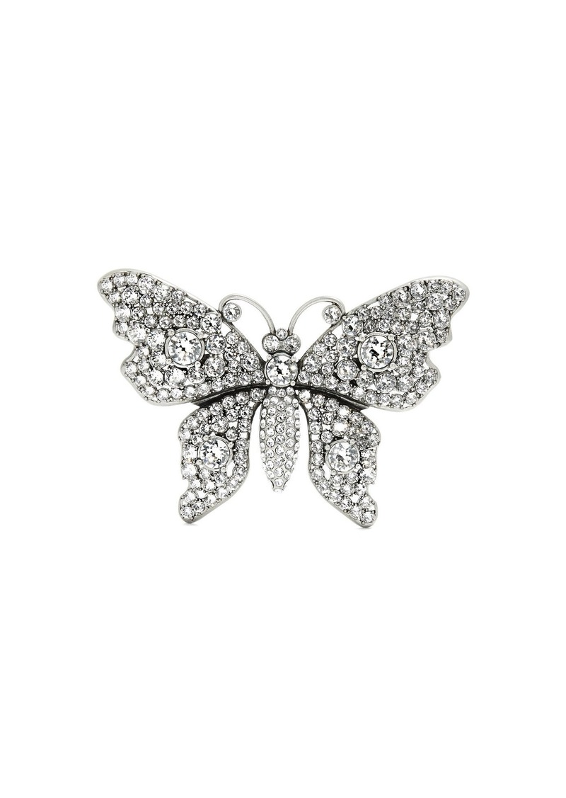 b936937a3cd Gucci Gucci Crystal-embellished butterfly brooch