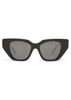 Gucci Crystal-embellished cat-eye acetate sunglasses