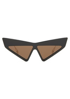 b6a12d2e6d5 Gucci Metal-Trim Diamantissima Cat-Eye Sunglasses Tortoiseshell ...