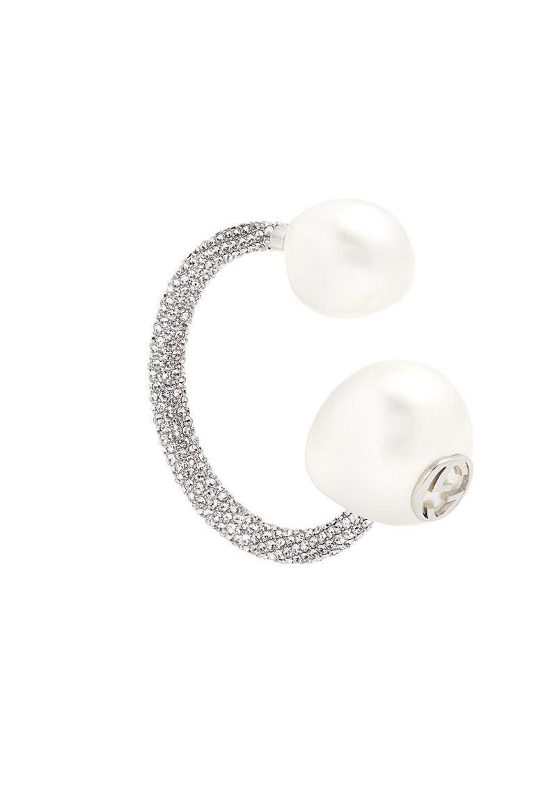 da613170797 Gucci Gucci Crystal-embellished pearl-effect earring