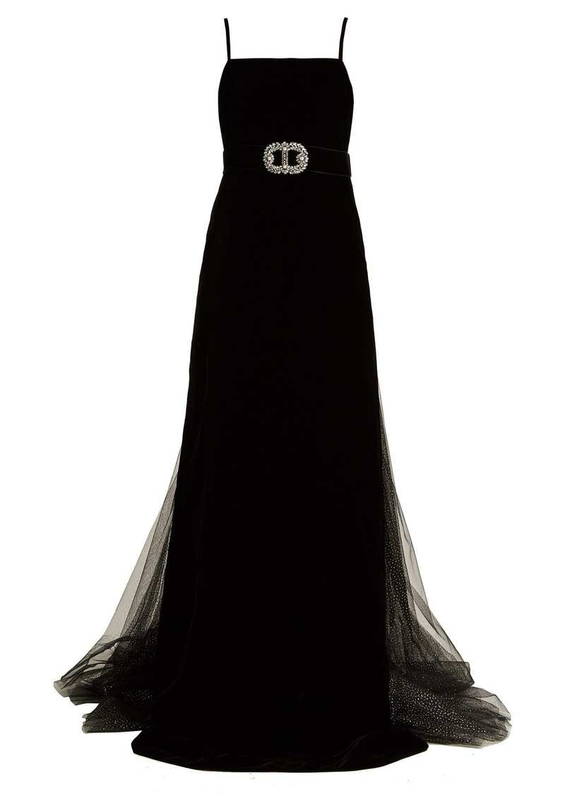 5ac0c65e8 Gucci Gucci Crystal-embellished velvet gown | Dresses