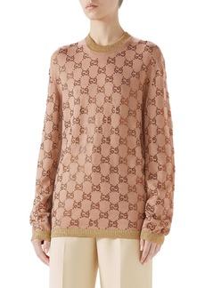 Gucci Crystal GG Logo Sweater