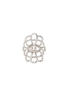 Gucci Crystal-lace GG ring