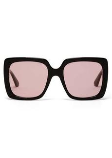 Gucci Crystal-logo square acetate sunglasses