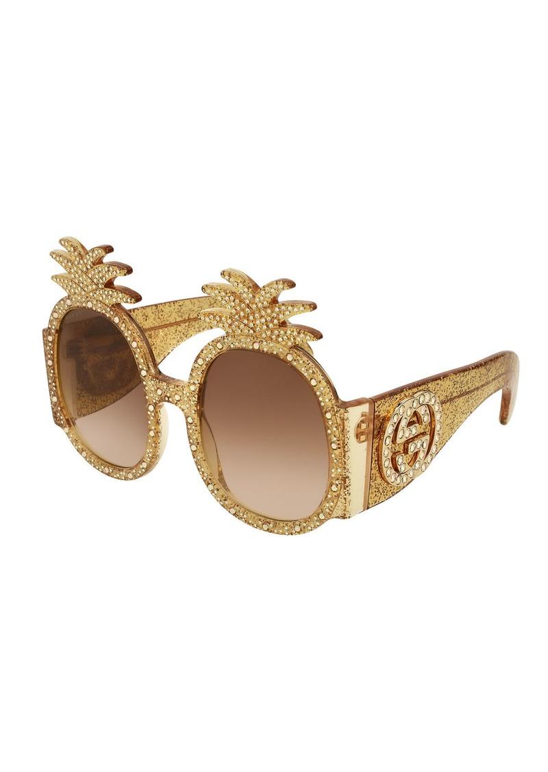 Gucci Crystal Pineapple GG Sunglasses