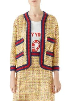 Gucci Crystal Tweed Jacket
