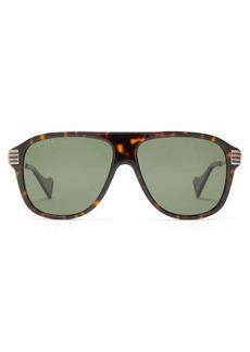Gucci D-frame tortoiseshell-acetate sunglasses