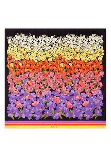 Gucci Dégradé Floral Silk Foulard Scarf