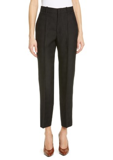 Gucci Diagonal GG Jacquard Wool & Silk Straight Leg Pants