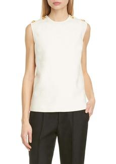 Gucci Diagonal GG Stripe Jacquard Wool & Silk Top