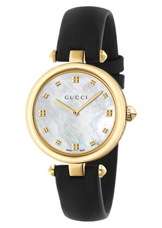 Gucci Diamantissima Leather Strap Watch, 32mm