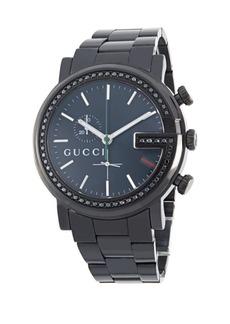 Gucci Diamond & Stainless Steel Bracelet Watch