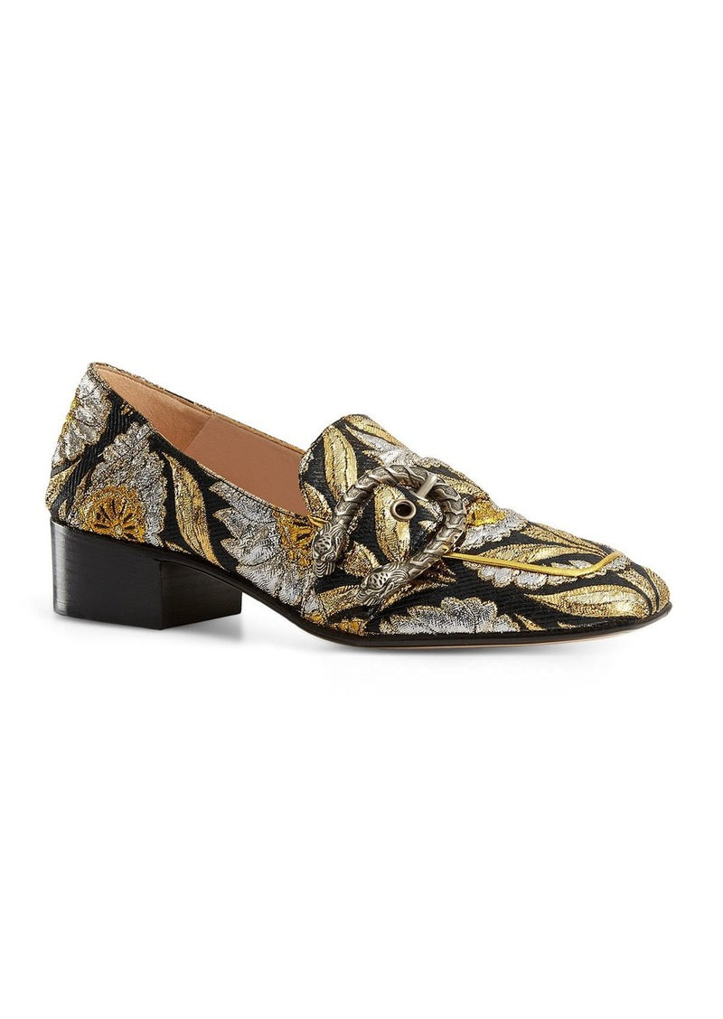 b19a2e2e6 Gucci Gucci Dionysus Brocade Mid Heel Loafers | Shoes