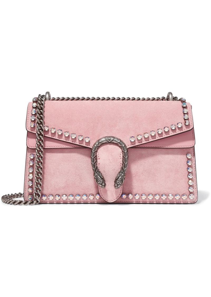 d3f5fa68fcf7 Gucci Dionysus Crystal-embellished Suede Shoulder Bag | Handbags