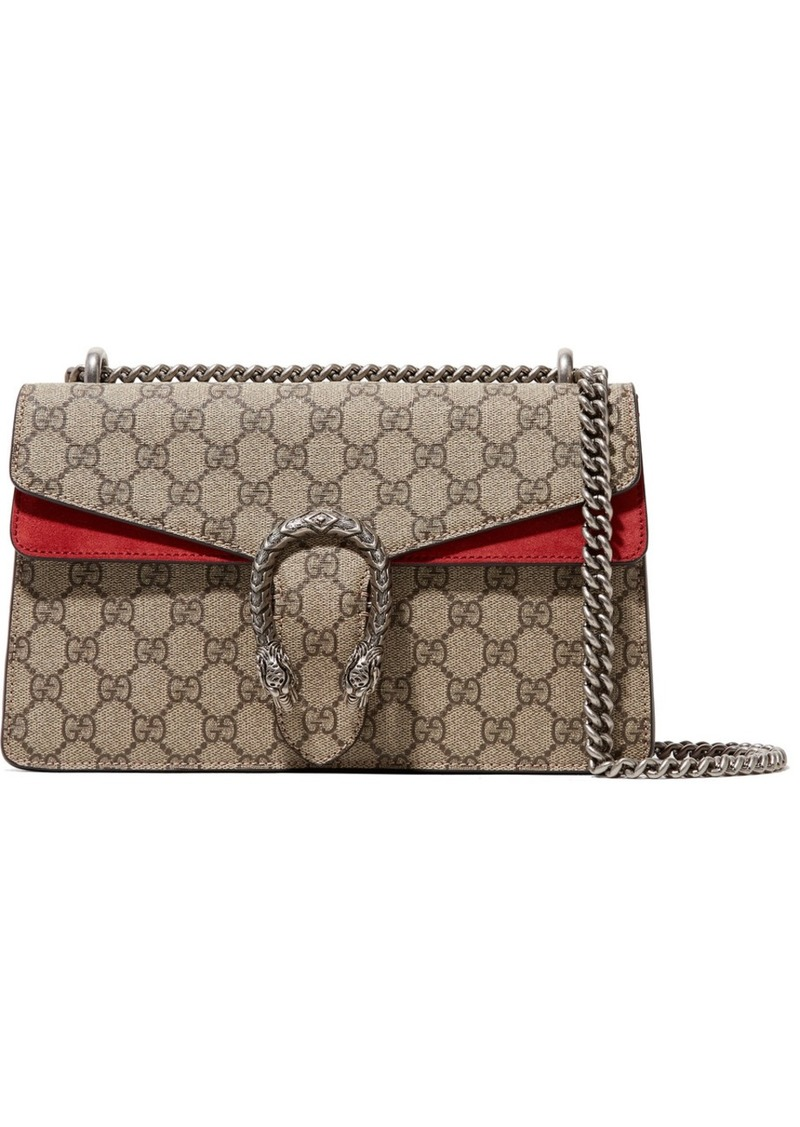 fa7f31be8d7d Gucci Dionysus Medium Printed Coated-canvas And Suede Shoulder Bag ...