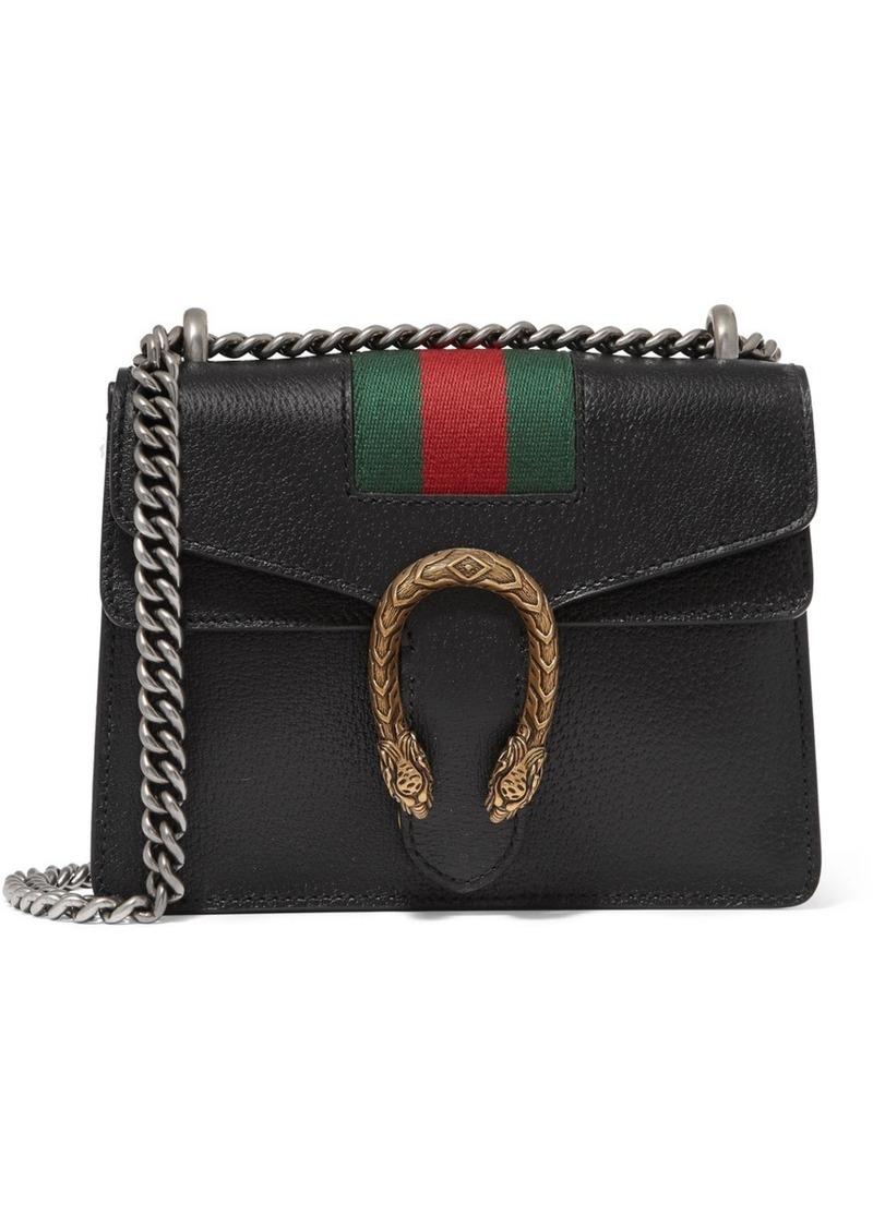 gucci gucci dionysus mini textured leather shoulder bag. Black Bedroom Furniture Sets. Home Design Ideas