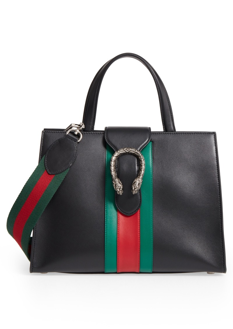 eb9e6862bd3 Gucci Gucci Dionysus Web Stripe Leather Satchel