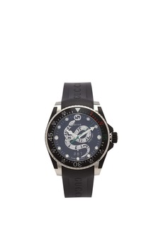 Gucci Dive Kingsnake stainless-steel watch