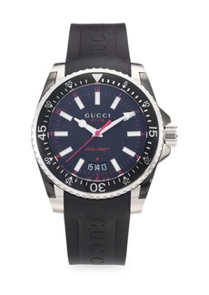 Gucci Dive Rubber & Stainless Steel Watch