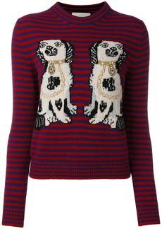 Gucci dog patch stripe top