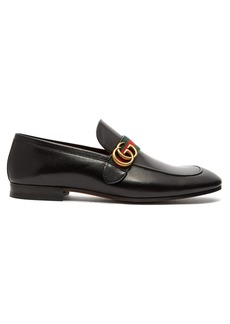 Gucci Donnie GG Web-stripe leather loafers