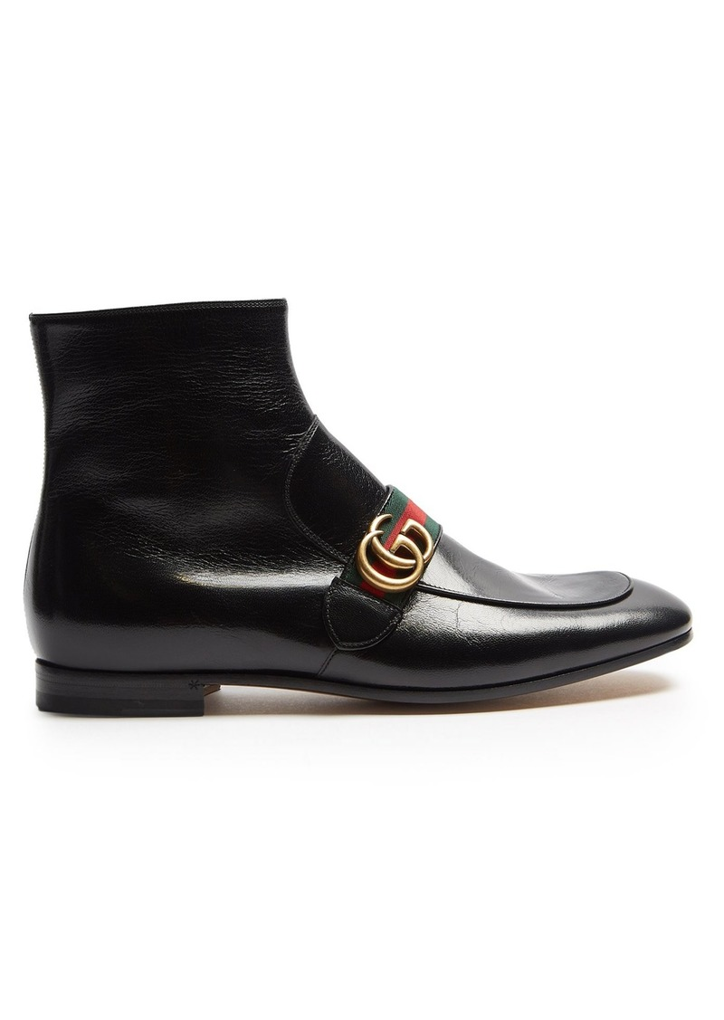 3c078c358be Gucci Gucci Donnie leather boots