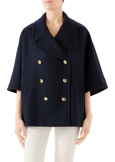 5d3dafd46 Gucci Gucci Pintucked butterfly-embellished belt coat | Outerwear