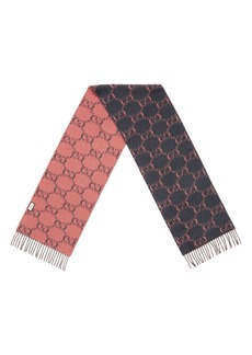 Gucci Double G Logo Wool Scarf