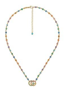 Gucci Double-G Multistone Pendant Necklace