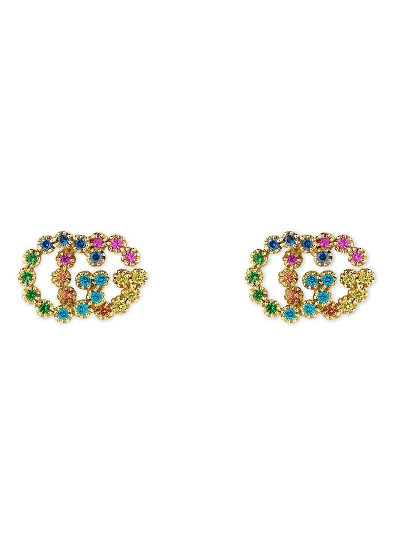 Double G Multistone Stud Earrings Gucci