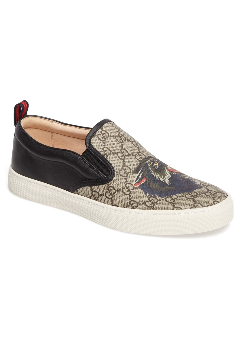 f6b7fbf0699 Gucci Gucci Wolf GG Supreme Slip-On Sneaker (Men)