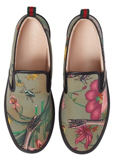 Gucci Flora Snake Slip-On Sneaker (Men)