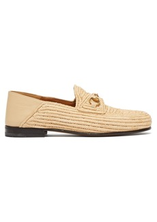 Gucci Easy Roos straw loafers